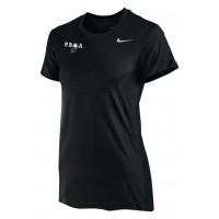 PBOA 10: Nike Women's Legend Short-Sleeve Training Top - Black with PBOA logo